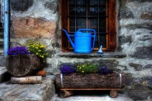 ogród konewka rynna